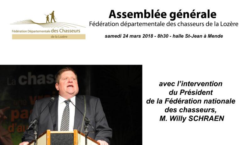 AG de la Fédération le 24 mars 2018
