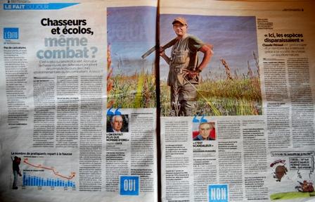 Presse nationale : les chasseurs et les écolos font la Une mais pas la paire…